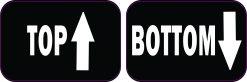 Top Bottom Vinyl Stickers
