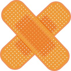 Crossed Bandages Vinyl Sticker