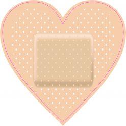 Heart Shaped Bandage Vinyl Sticker