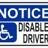 Notice Disabled Driver Vinyl Sticker