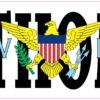 Flag St Thomas Virgin Islands Vinyl Sticker
