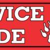 Service Dog Inside Vinyl Sticker