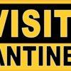 No Visitors Quarantine Area Magnet