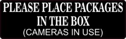 Place Packages in the Box Vinyl Sticker