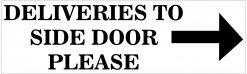 Right Arrow Deliveries to Side Door Magnet