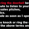 Before You Knock or Ring Doorbell Magnet