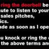 Before You Knock or Ring Doorbell Vinyl Sticker