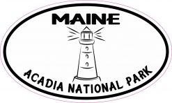 Oval Acadia National Park Vinyl Sticker