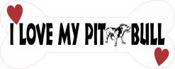 Dog Bone I Love My Pit Bull Vinyl Sticker