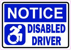 Dynamic Symbol Notice Disabled Driver Vinyl Sticker