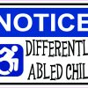 Differently Abled Child Magnet