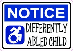 Differently Abled Child Vinyl Sticker