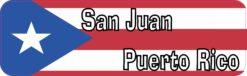 Flag San Juan Puerto Rico Vinyl Sticker