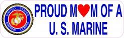 Proud Mom of a US Marine Vinyl Sticker