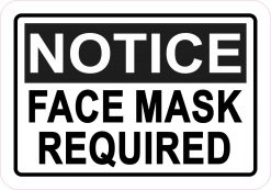 Notice Face Mask Required Magnet