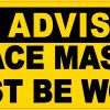 Face Mask Must Be Worn Vinyl Sticker