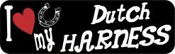 I Love My Dutch Harness Vinyl Sticker
