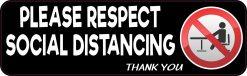 Please Respect Social Distancing Magnet