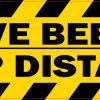 Active Beehive Keep Distance Vinyl Sticker