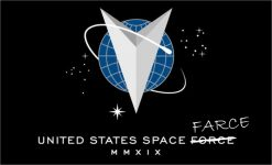 United States Space Farce Flag Vinyl Sticker