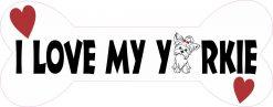 Dog Bone I Love My Yorkie Vinyl Sticker