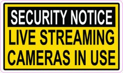 Live Streaming Cameras in Use Vinyl Sticker