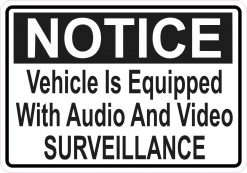 Vehicle Equipped with Audio and Video Surveillance Magnet