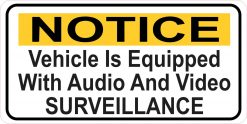 Vehicle Audio and Video Surveillance Magnet