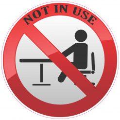 Not in Use Vinyl Sticker