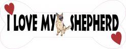 Dog Bone I Love My Shepherd Vinyl Sticker