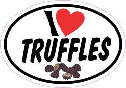 Oval I Love Truffles Vinyl Sticker
