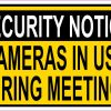 Cameras in Use During Meetings Magnet