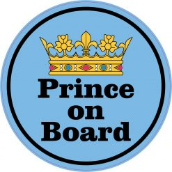 Circular Prince on Board Vinyl Sticker