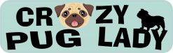 Crazy Pug Lady Vinyl Sticker