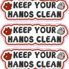 Bulldog Keep Your Hands Clean Vinyl Stickers