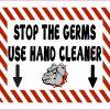 Bulldog Mascot Use Hand Cleaner Magnet