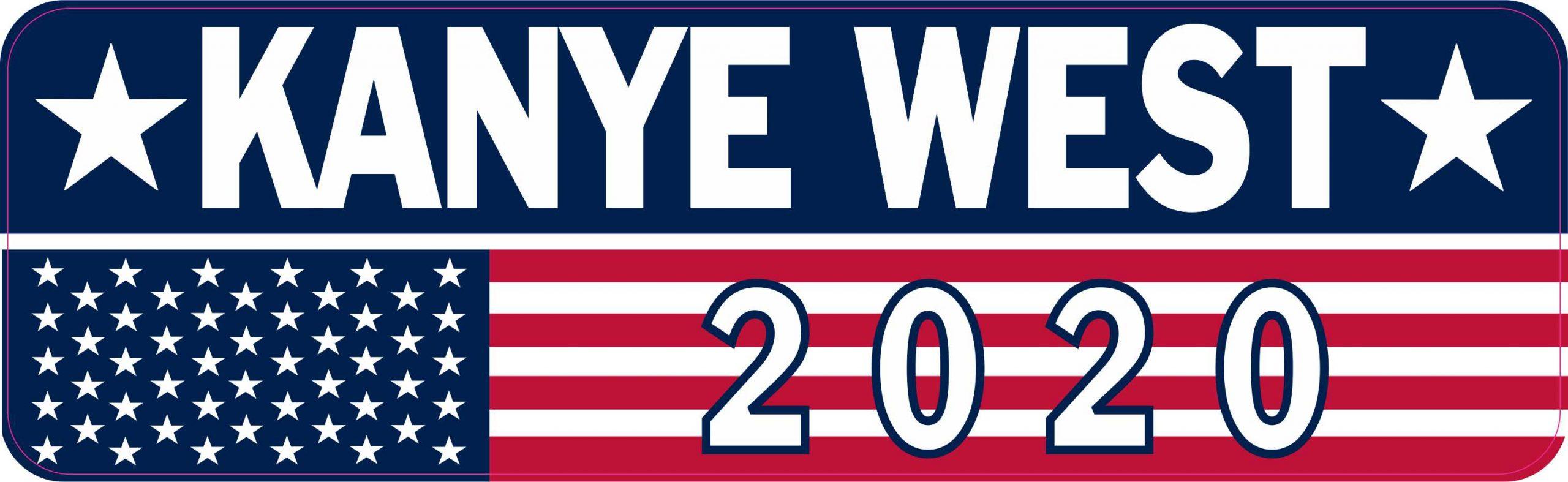 Kanye West For President 2020 Campaign Refrigerator Magnet