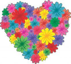 Floral Heart Vinyl Sticker