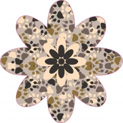 Paw Print Flower Vinyl Sticker